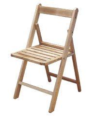 silla de madera plegable mod cat.