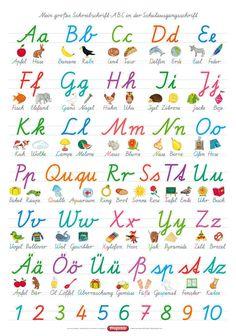 Alphabet in Schulausgangsschrift