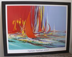 Neptune Festival 2001 Poster The Race Constance Fahey Signed 555/2000 Va Beach #Impressionism $118.99