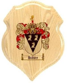 $34.99 Halsey Coat of Arms Plaque / Family Crest Plaque