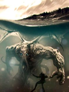 Creature from the Deep. Featuring the Lab's latest series called Creature from the Deep.Featuring the Lab's latest series called Creature from the Deep. Horror Art, Fantasy Artwork, Fantasy Art, Fantasy Creatures, Art, Fantasy Monster, Cthulhu Art, Monster Art, Dark Fantasy Art