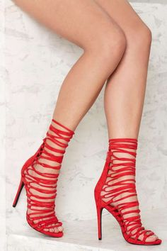 Privileged Strap Happy Lace Up Heel