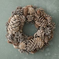 Glitter Cones Wreath. Could probably make this.