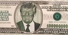 One of the Trump dollars that fell from the ceiling during U2's iHeartRadio show last night. Via @timothyneufeld