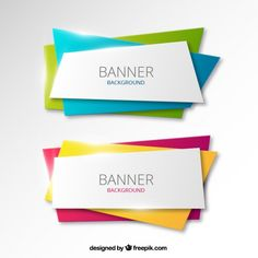 Colorful banners background Free Vector