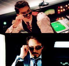 uHoward Stark and Tony Stark