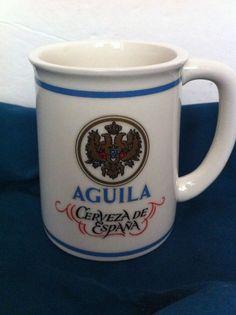 Franklin Porcelain Tankards of World's Great Breweries AGUILA CERVEZA de ESPANA