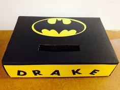 Batman valentines day box I made for my nephew!