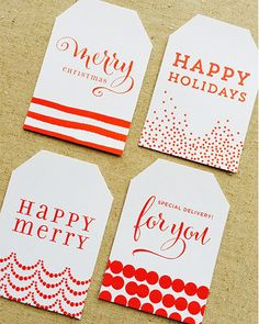 Free Christmas Gift Tags | Design Corral | Wedding Favors and Accessories