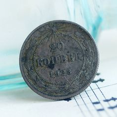 1923 a button made out of an antique coin something by CoolVintage
