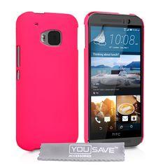 YouSave HTC M9 Hard Hybrid Case - Hot Pink | Mobile Madhouse