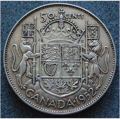1952 Canada 50 cents Silver Coin KGVI on #eBid United Kingdom