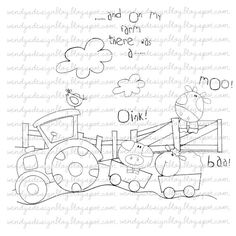 On My Farm by alldressedupstamps on Etsy
