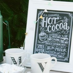 Hot Cocoa Recipe - (Print) - Lily & Val... I would love to have a hot chocolate bar and hang this above it!!