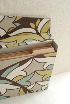 カルトナージュのファイルケースの画像:Living room cafe diary
