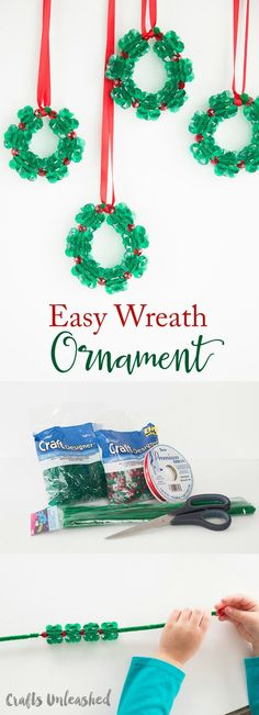 DIY Wreath Ornament Christmas Crafts for Kids