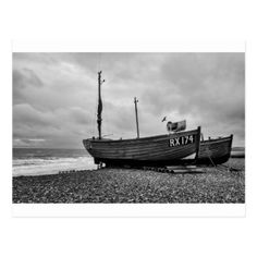 Bexhill UK  Fishing boats high and dry Postcard - postcard post card postcards unique diy cyo customize personalize