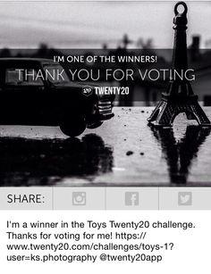 Toy photography won on Twenty20