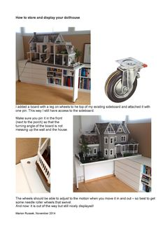Store and display a dollhouse