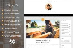 Stories - Simple Personal Blog by Envalabs on Creative Market