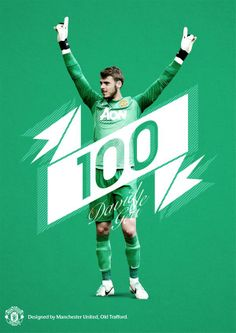David de Gea Manchester United Images, Manchester United Football, Sports Graphic Design, Sports Marketing, Man United, Sports Illustrated, 100 Games, Sports Graphics, Trafford