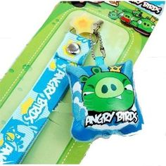 King Pig Angry Birds Screen Cleaner Cell Phone Charm (Wireless Phone Accessory)