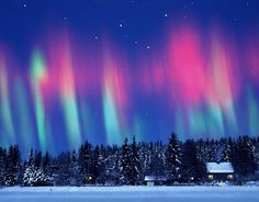The largest solar storm in five years sent a huge wave of radiation into earth's atmosphere creating a brilliant show of the aurora borealis , also known as the Northern Lights.