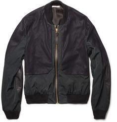Paul SmithPanelled-Leather Bomber Jacket|MR PORTER