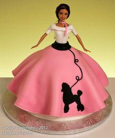 Image Detail for - Poodle Skirt Barbie Cake