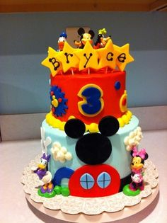 mickey, my son's 3rd bday will be this theme. It's the only thing that stops him in his tracks lol