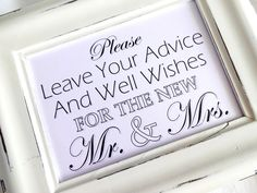 Please Leave Your Advice And Well Wishes for the New by lilcubby, $3.95