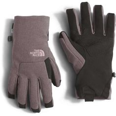 The North Face Women's Apex+ Etip Glove (180 BRL) ❤ liked on Polyvore featuring accessories, gloves, rabbit grey heather, the north face and the north face® gloves