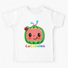 'Cocomelon songs for kids' Kids Clothes by StefaniaAlina Kids Shirts, Tee Shirts, T Shirts For Women, Kids Songs, Happy Kids, Tshirt Colors, Chiffon Tops, V Neck T Shirt, Classic T Shirts