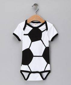 My husband is a soccer nut, so we'll have to have a onesie like this when we eventually have kids!