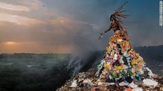 The pair have collaborated on a photographic series that uses mythical storytelling to capture terrifying environmental truths.