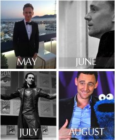 A year of Hiddleston<- my birthday month is May and im not disapointed