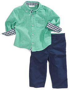 First Impressions Baby Boys' 2-Piece Shirt & Pants Set - Kids Baby Boy (0-24 months) - Macy's