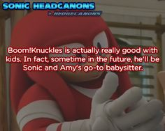 ☆ Sonic Headcanons ☆ Sonic and Amy's? doubt it