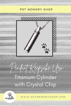 This titanium pendant has a beautiful inlaid crystal chip. The vessel is filled through a threaded bottom (engraving not available). Pet Memorial Jewelry, Keepsake Urns, Cremation Urns, Pet Loss, Pet Memorials, Pet Gifts, Black Velvet, Chips, Pets