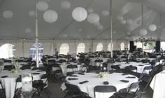 Black and White Golf Tournament Tent | via G&K Rental