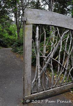 gate at Mendocino Coast Botanical Gardens.