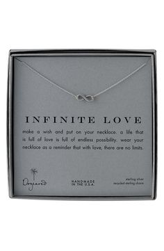 Dogeared 'Infinite Love' Reminder Pendant Necklace Infinite Love - $54 from Nordstrom
