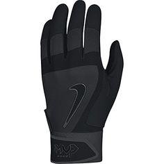 Nike MVP Edge Baseball Batting Glove Black Size Small - http://homerun.co.business/product/nike-mvp-edge-baseball-batting-glove-black-size-small/