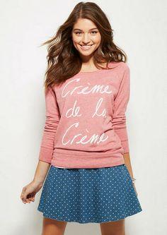 Denim Polka Dot Skater Skirt - Skirts - Clothing - dELiA*s