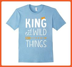 Mens Funny King Of The Wild Things Birthday 1st Matching Shirt XL Baby Blue - Birthday shirts (*Partner-Link)