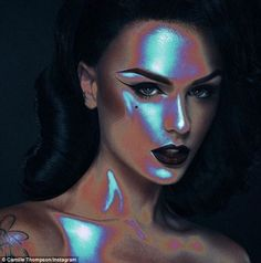 The look: Iry was inspired by this make-up job done by fellow artist Camille Thompson inspired by thermal body scans