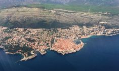 Aerial view of Dubrovnik, a filming location of games of thrones. Filming Locations, Dubrovnik, Aerial View, River, Games, Outdoor, Outdoors, Gaming, Toys