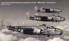 North American B-25 Mitchell. It was used by many Allied air forces, in every theater of World War II, as well as many other air forces after the war ended, and saw service across four decades. The B-25 was named in honor of General Billy Mitchell, a pioneer of U.S. military aviation. By the end of its production, nearly 10,000 B-25s in numerous models had been built.