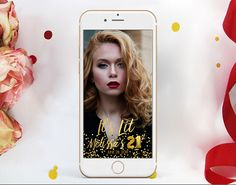 21st BIRTHDAY Snapchat Geofilter for a Twenty one Birthday Party with Snapchat Special Filter with Gold Wording and Gold Confetti, Any age Twenty First Birthday, 21st Birthday, First Birthday Parties, First Birthdays, Rose Gold Balloons, Blue Balloons, Foil Balloons, Balloon Invitation, Welcome Poster
