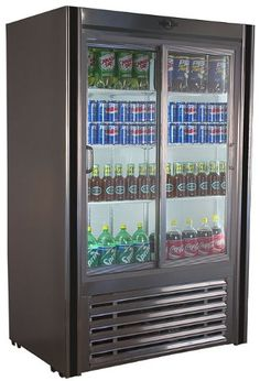Glass Door Beverage Cooler - http://goshoppins.com/appliances/beverage-refrigerators/glass-door-beverage-cooler/ -    Glass Door Beverage Cooler Customer Reviews  Price: $ 1,889.00     Self-Contained Stainless Steel Florescent interior lighting Holds 33°-38°F temperatures Glass Sliding doors      Popular Self contained glass door beverage cooler.  Available in multiple sizes as well as remote units. ... -
